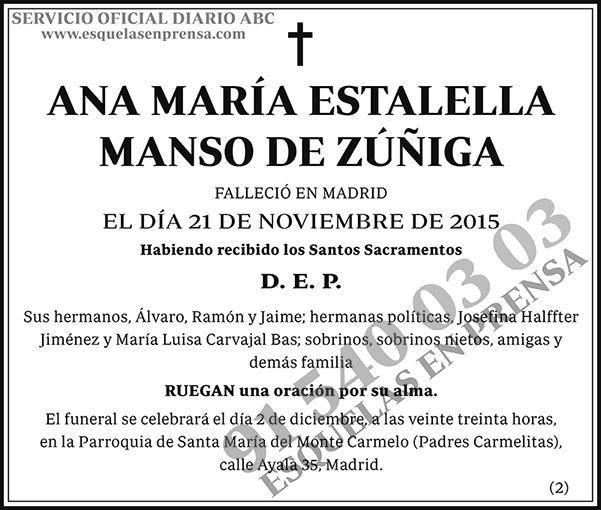 Ana María Estalella Manso de Zúñiga
